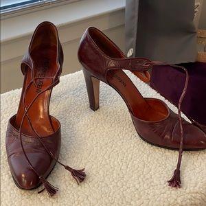 Vintage YSL maroon heels